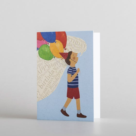 Image of Happy Birthday Balloons Mini Card