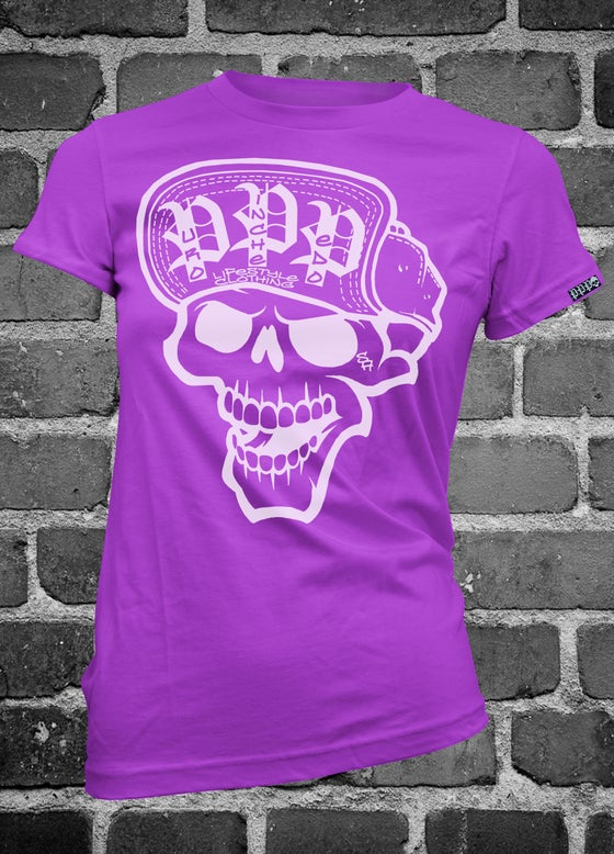 Image of Skull Logo - Purple