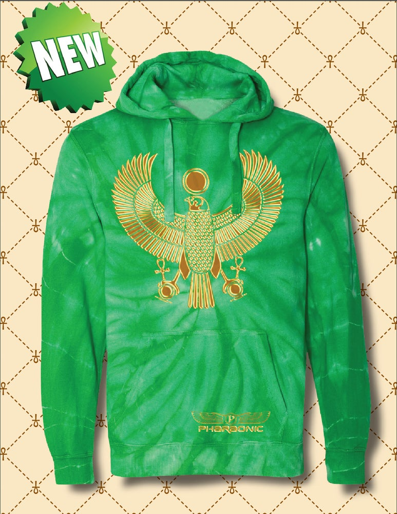 Image of MEN'S & WOMEN'S GOLD HERU TIE DYE HOODIE