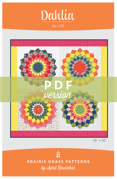 Image of Dahlia: PDF Quilting Pattern #129