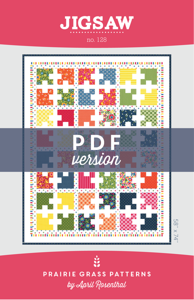 Image of Jigsaw: PDF Quilting Pattern #128