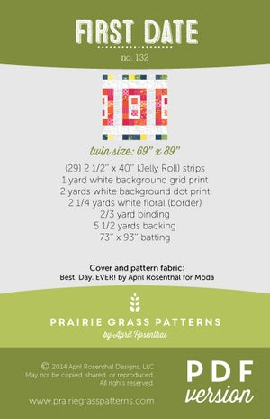 Image of First Date: PDF Pattern #132