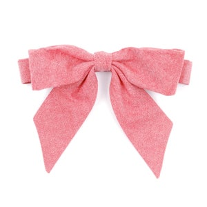 Image of berry chambray {lady bow} *two left