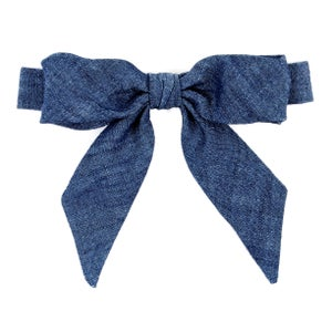 Image of washed denim {lady bow}