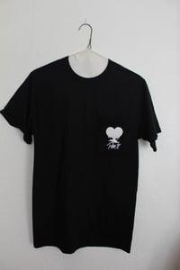 Image of Pure X - Drippy Heart Pocket Tee (BLACK)