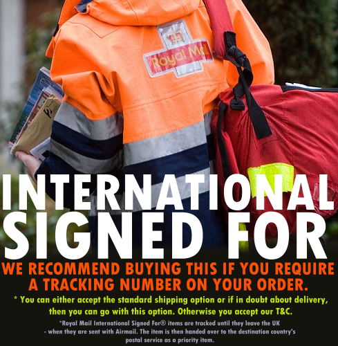 Image of 'INTERNATIONAL SIGNED FOR SHIPPING'
