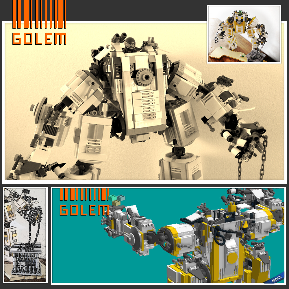 Golem Moc Suplegosup Bricks Instructions Prinzipiell
