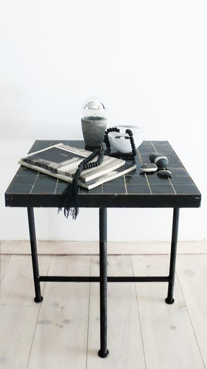 "Image of Moroccan ""Zellij"" Side Table - Black"