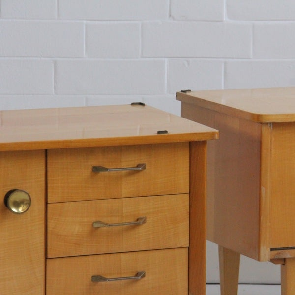 Image of Pair of French Bedside Tables (i)