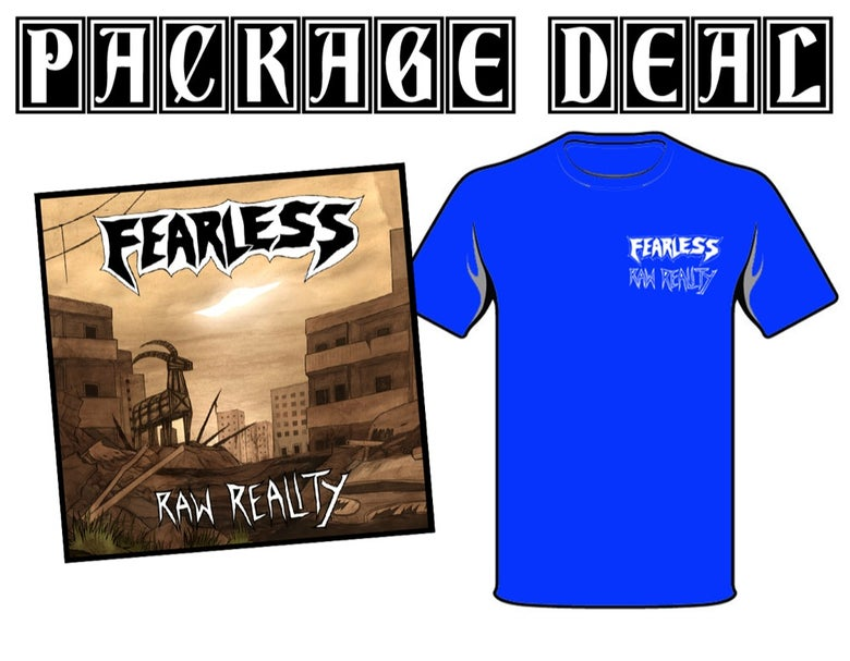 "Image of PACKAGE DEAL: FEARLESS ""Raw Reality"" 7"" + TS"