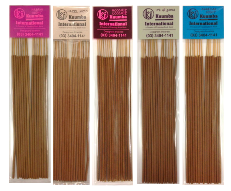 Image of Kuumba Incense Regular - Habana Night, Hazel Nuts, Hoochie Coochie, Its All Good, Jamaican Night