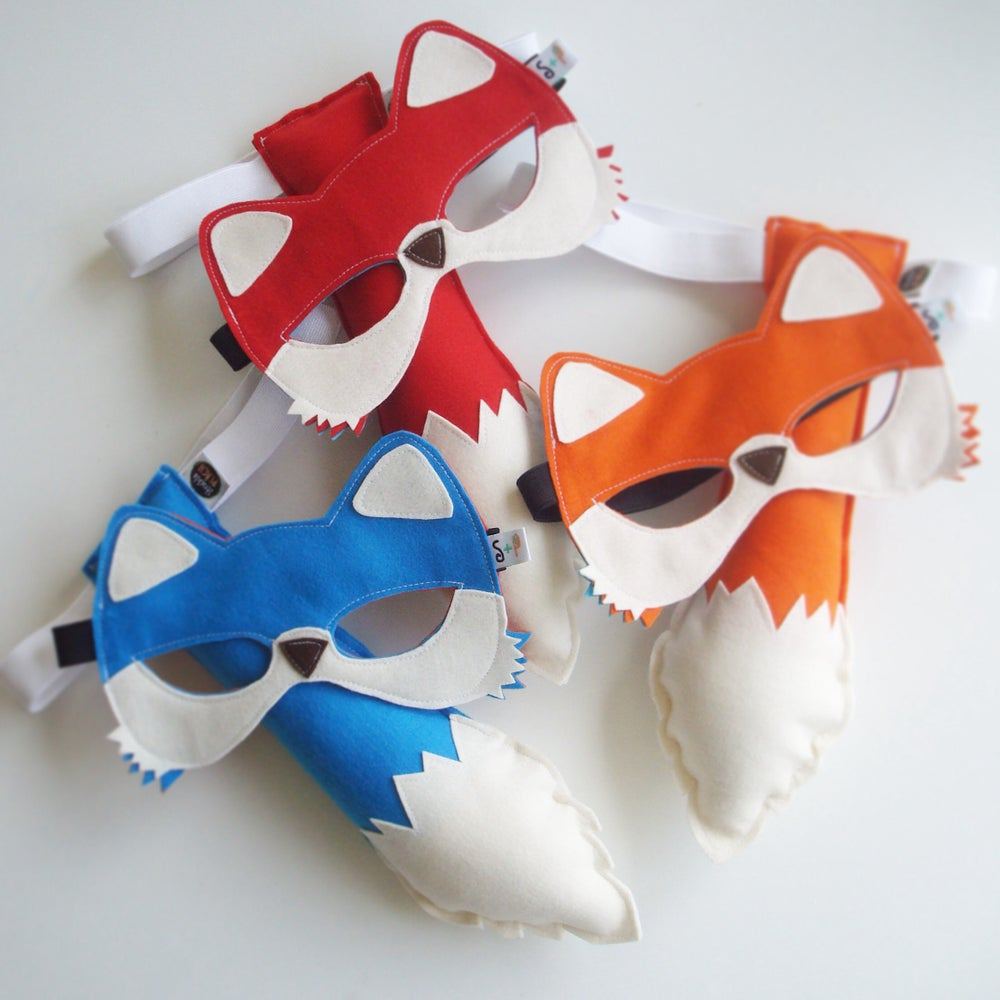 Image of fox mask and tail set