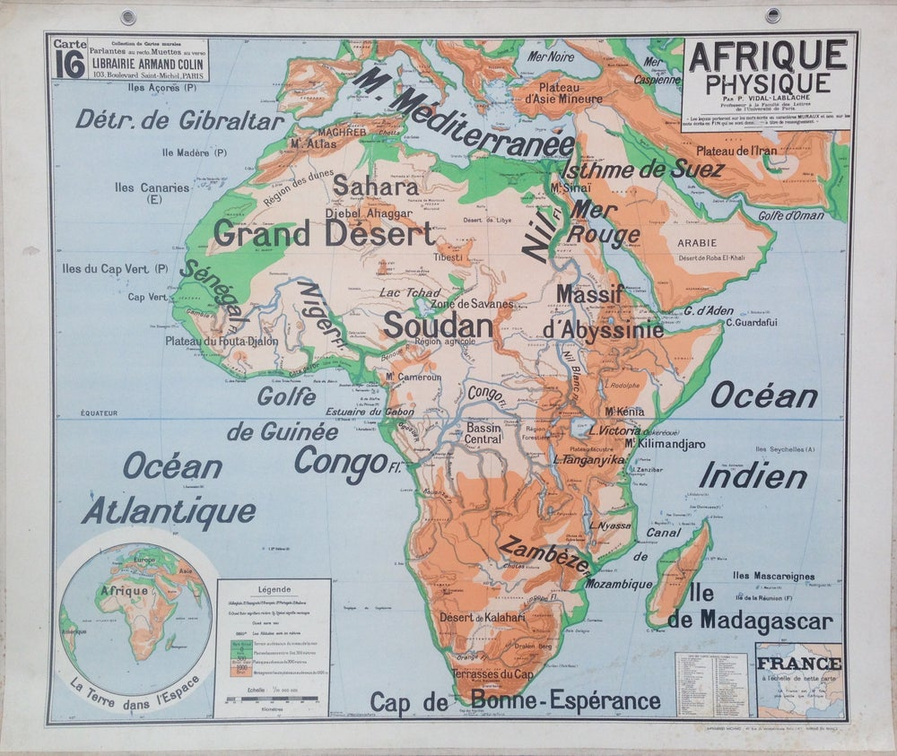 Image of 1960s Relief Map of Africa