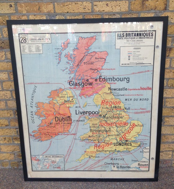 Image of 1960s Map of Great Britain
