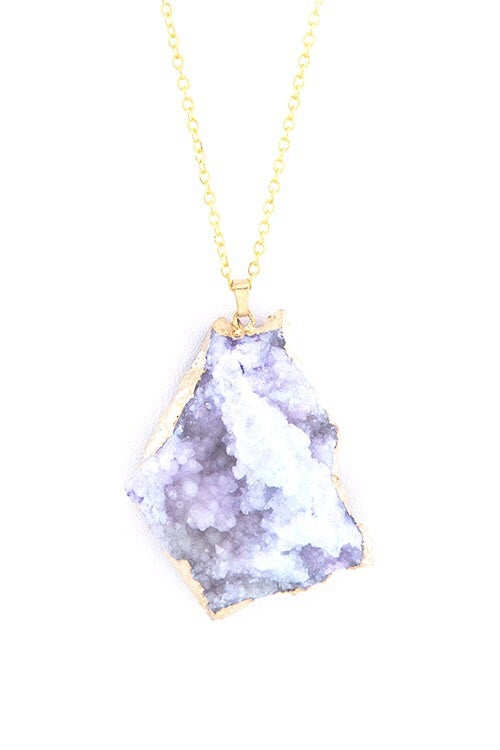 Image of Druzy Craze Pendant Necklace