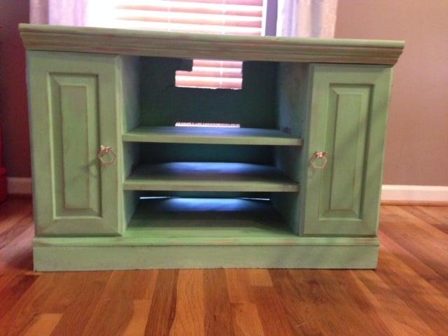 Rustic Mint Tv Stand Art E Bartee Designs