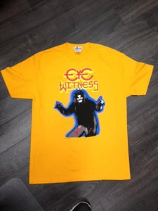 "Image of ""HAIRY MADMAN"" T-SHIRT GOLD COLOR BODY WAY"