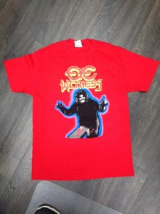 "Image of ""HAIRY MADMAN"" T-SHIRT RED COLOR BODY WAY"