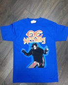 "Image of ""HAIRY MADMAN"" T-SHIRT TRUE BLUE COLOR BODY WAY"