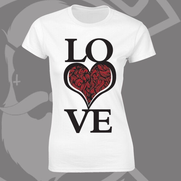 Image of Beard and Ink LOVE Bearded ❤️ Logo Tee