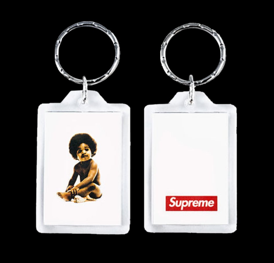 Image of 2011 Biggie Keychain, Crucifix Knives & Playboy Key