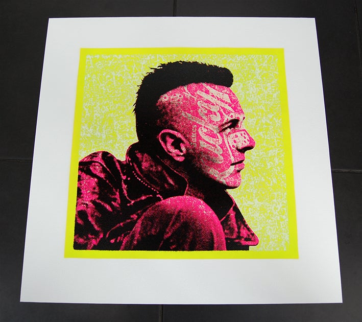 Image of JOE STRUMMER - PUNK PINK + YELLOW Edition of 7