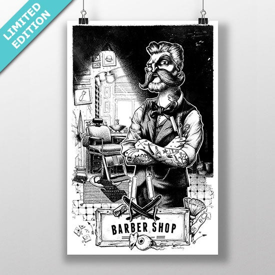 Image of The Barber Shop print