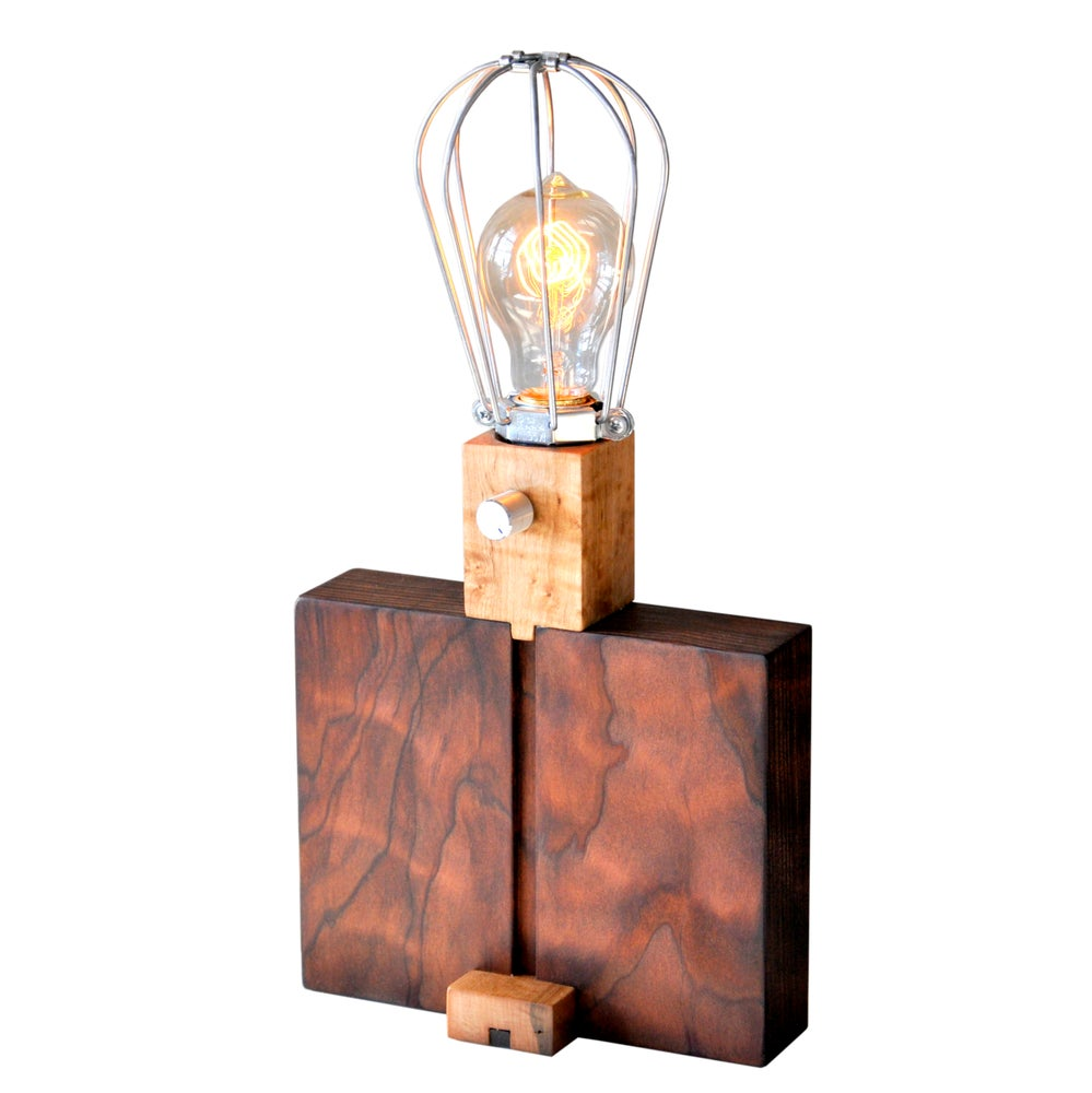 Image of Water Tank wood and walnut Lamp