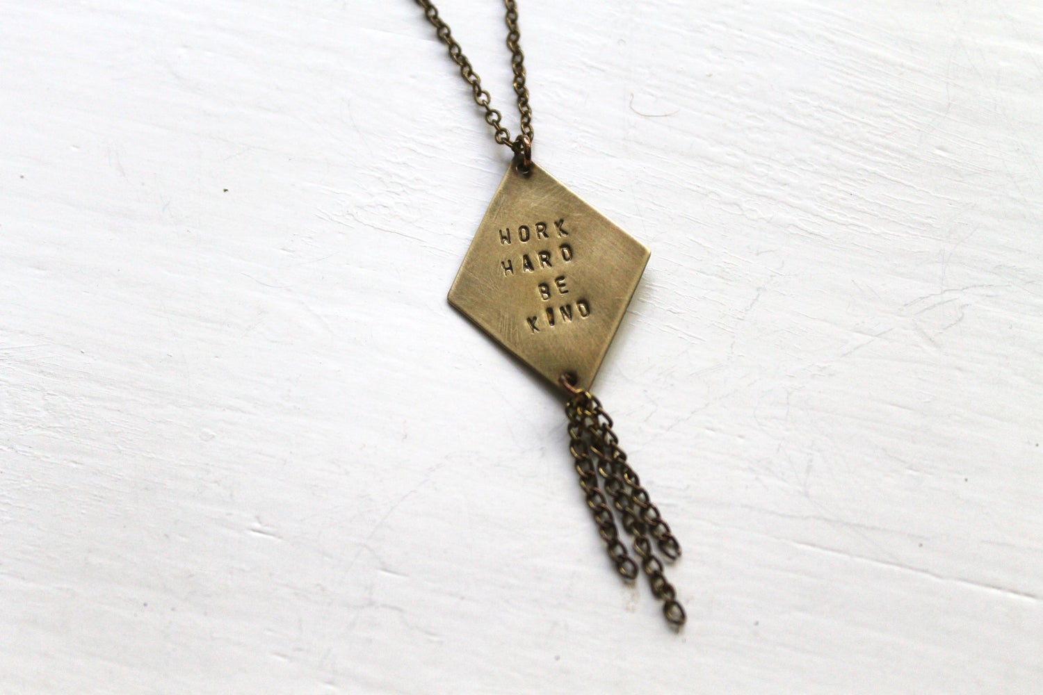 Image of Work Hard Be Kind Necklace (Originally $36)