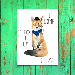 Image of FOX SHIT UP - Print