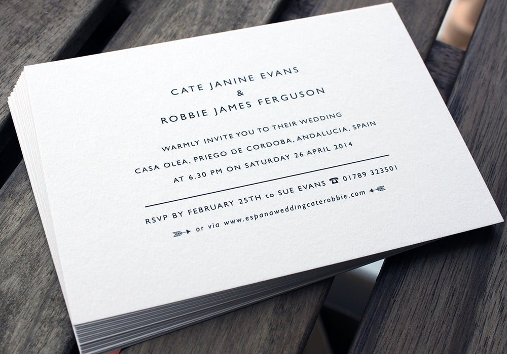 Image of Wedding Invitation A6 size // set of 100 // Digitally Printed, Mountable option