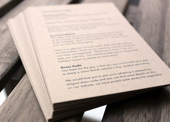Image of SAMPLES // Wedding Information Cards, Menus, Maps (digital print)