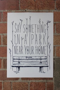Image of Something in a Park Poster