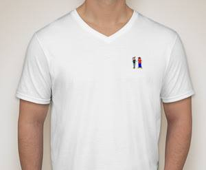 Image of RichLyfe White Logo V-Neck