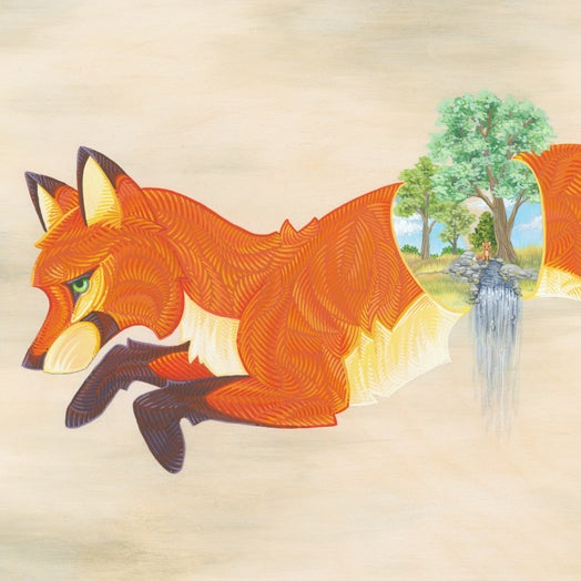 Image of Split Fox - Print