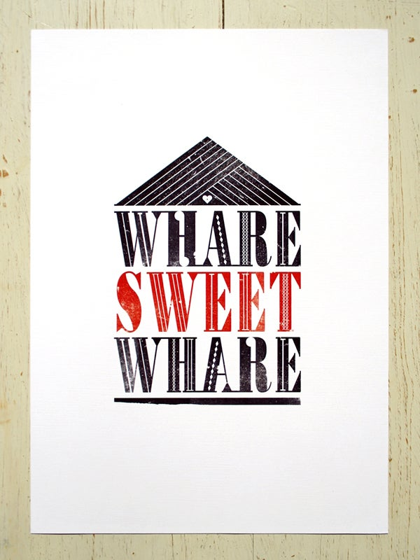 Image of Whare Sweet Whare art print