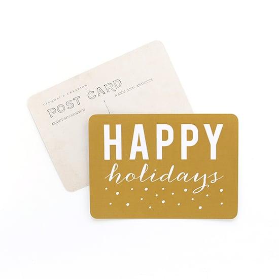 Image of Carte Postale HAPPY HOLIDAYS