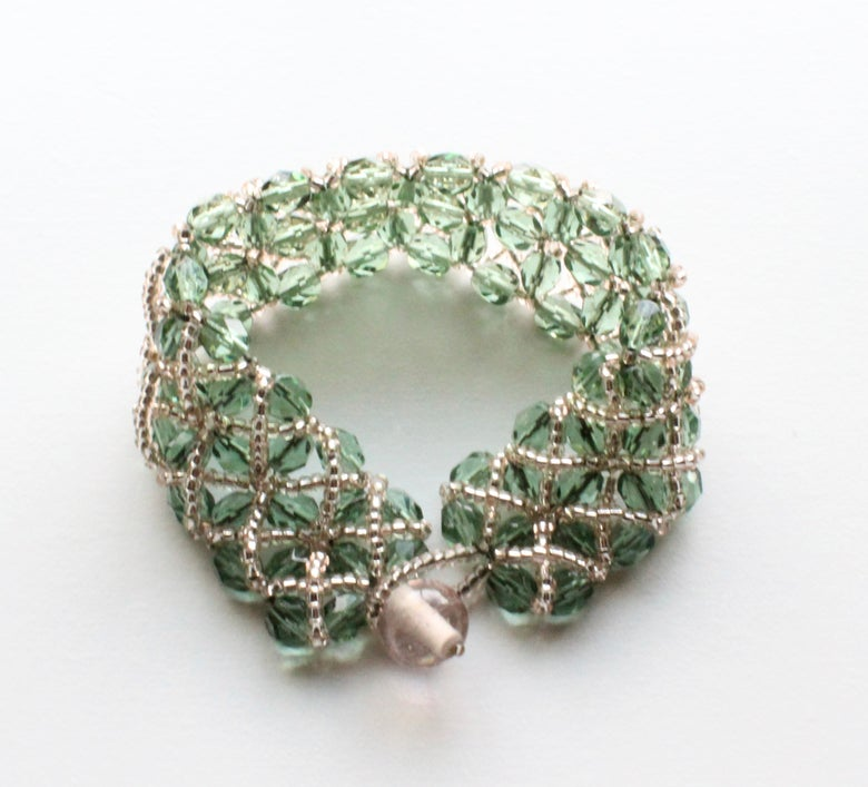 Image of Mint Champagne Lattice Bracelet