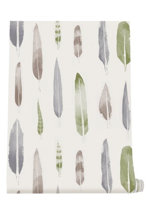 Image of Feathers Wallpaper - British Lichen