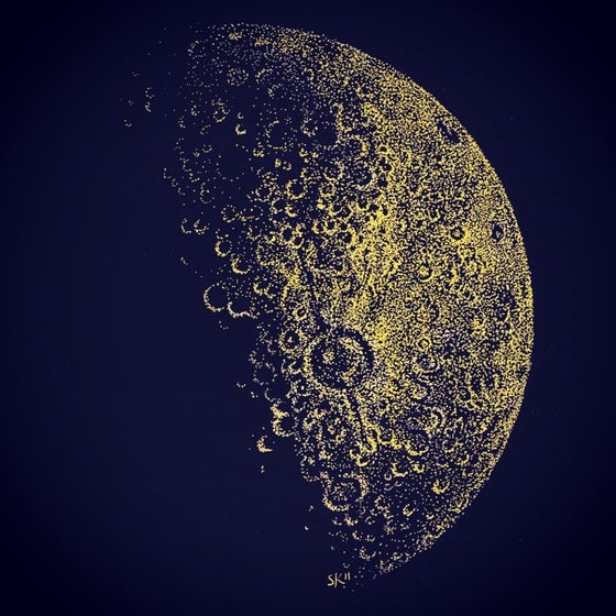 Image of Gold Half Moon - A3