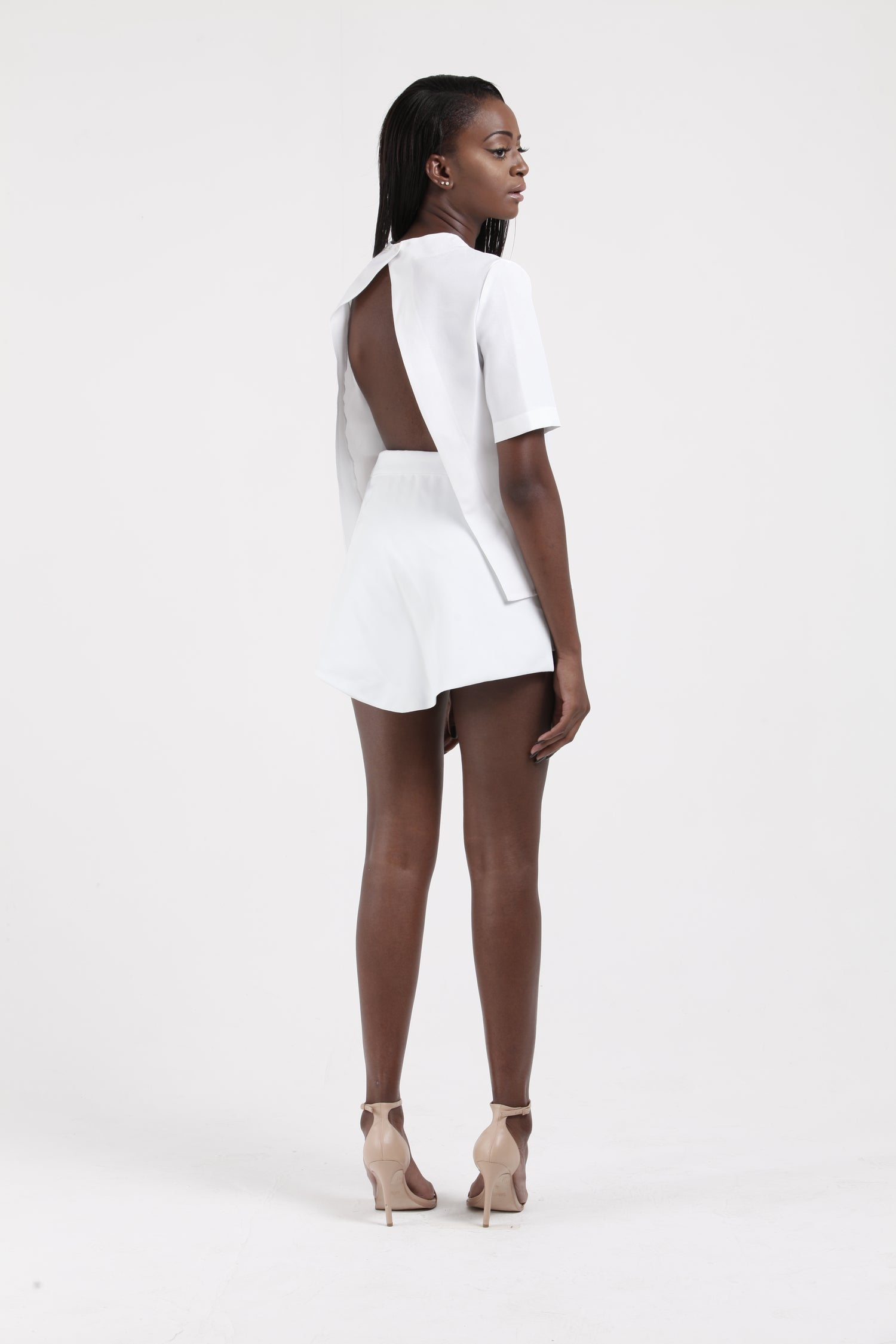 Image of High waisted Shorts w/removable Skirt