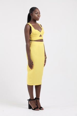 Image of High waisted Zip pencil skirt