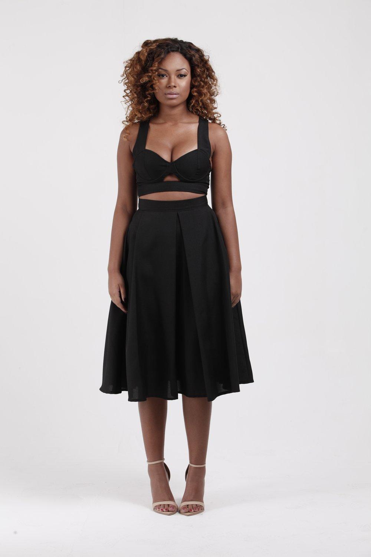 Image of Midi Circle Skirt w/Pockets