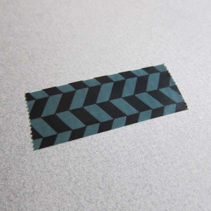 Image of Printed Tape / Herringbone Print / Green & Black
