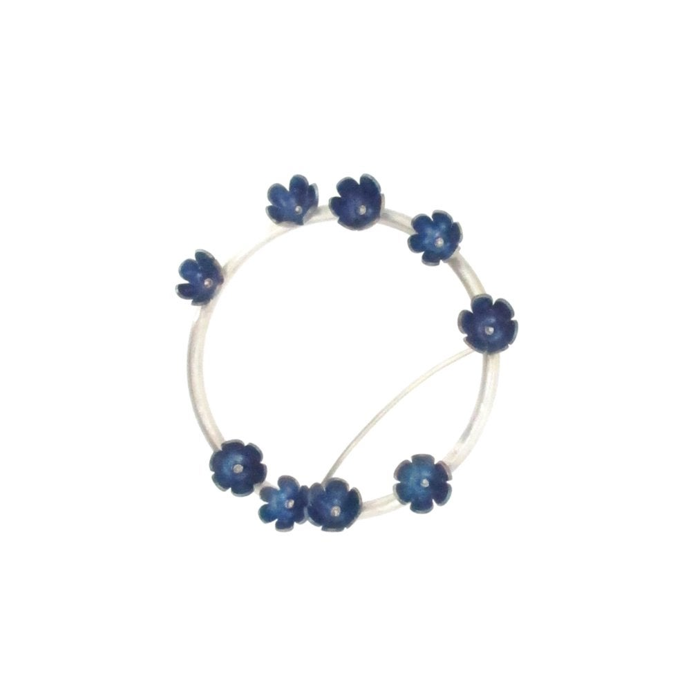 Image of Springtime Forget-me-nots circlet brooch