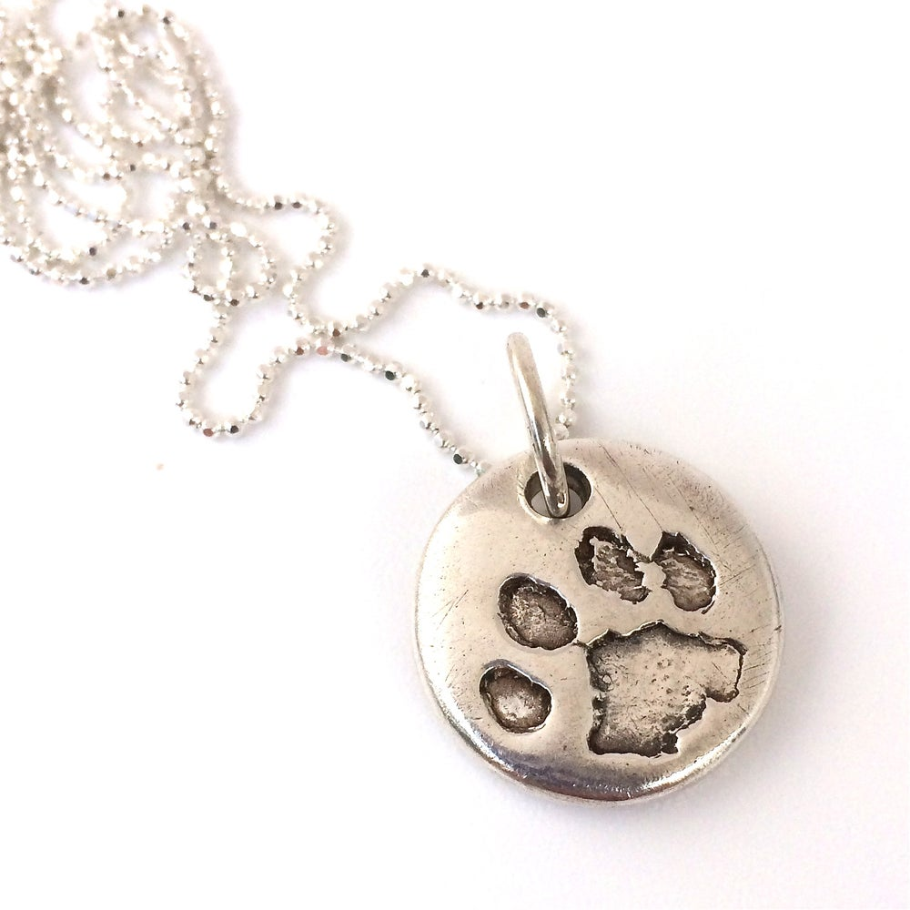 Image of Pet Paw Prints in Silver