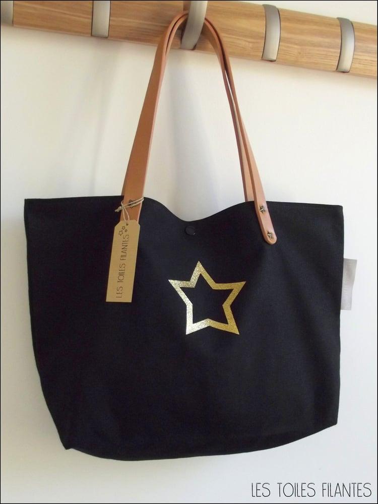 Image of Sur commande: sac coton épais noir