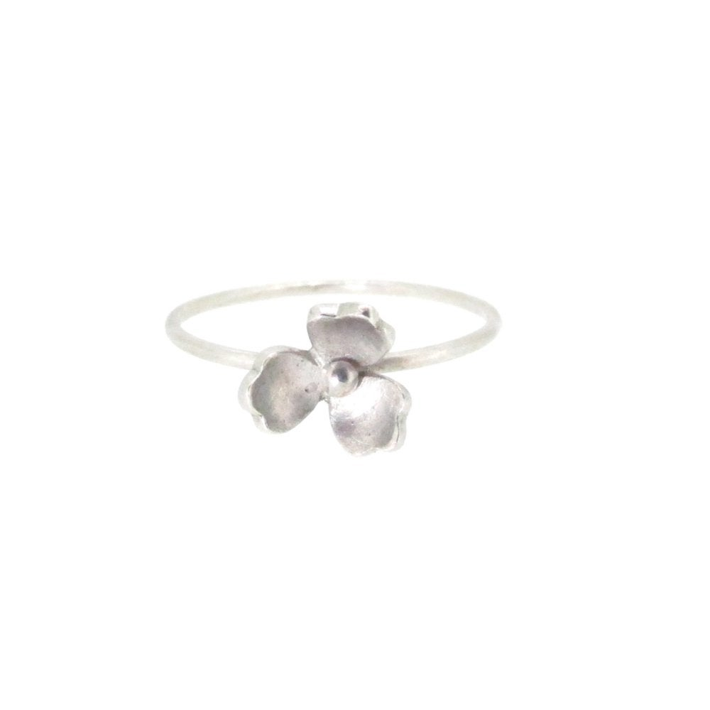 Image of Springtime Wildflower Snowdrop stacking ring