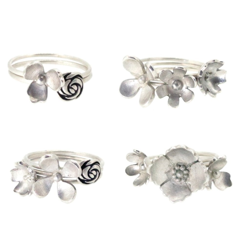 Image of Springtime Wildflower Daisy stacking ring