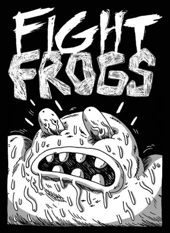 Fight Frogs Screen Printed Patch